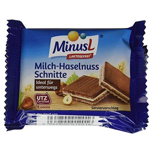 MinusL Milch-Haselnuss Schnitte, 100g