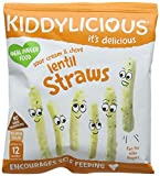Kiddylicious Sour Cream and Chive Lentil Straws, 12 g, Pack of 9