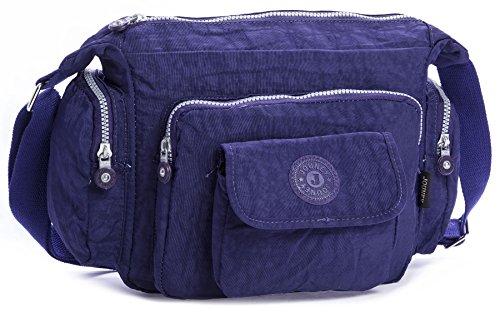 Big Handbag Shop - Borsa a tracolla unisex (Blu)
