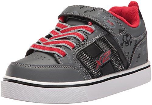 Heelys X2, Zapatillas Unisex niños, Black/Grey/Red