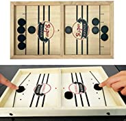 Slingshot Table Hockey Party Game, Bouncing Chess Hockey Game, Table Desktop Battle 2 in 1 Ice Hockey Game, Wi