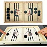 Slingshot Table Hockey Party Game, Bouncing Chess Hockey Game, Table Desktop Battle 2 in 1 Ice Hockey Game, Winner Board Game