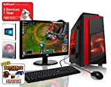 ADMI GAMING PC PACKAGE: Versatile Desktop Computer, 23.6 Inch 1080p Monitor with Speakers, Keyboard, Mouse and Gaming HeadSet (PC SPEC: AMD Kaveri A8-7650K 3.8GHz Radeon R7 Quad Core APU Processor, USB 3.0, 500W PSU, 1TB Hard Drive, 16GB RAM, Wifi, CiT F3 Case, Pre-Installed with Windows 10 Operating System)