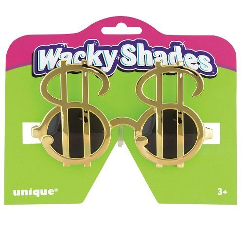 Gold Dollar Sign Sunglasses by Unique Industries