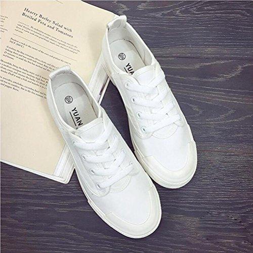 Scarpe Casual Canvas Lace Up Scarpe Giovane Donna Primavera e Estate Scarpe di moda Vintage White