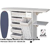 Mueble de plancha Estoril blanco vintage + (Funda elastica XXL Premiun Rayen)