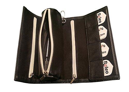 Roleo Darttasche Etui Koffer Mäppchen schwarz Pak -