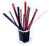 50 Binderücken / Sortiment in 12 - 14 - 16 - 19 mm ( 65 - 165 Blatt) 4 Farben