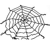 LEEQ 1,5 m gótico Spooky Felpa araña Red Halloween Halloween Halloween casa Bar decoración Fiesta Suministros (Negro)