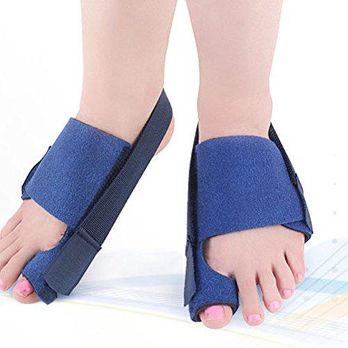 Healifty Zehenspreizer Hallux Valgus Bandage Bunion Korrektor Zehenschutzer Fußpflege Atmungsaktiv Einstellbar 1 Paar (Blau)