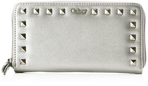 Gabor Damen Jade Geldbörse, (Silber), 3x10,5x19,5 cm