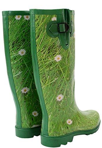 A&H Footwear  Retroleopard,  Mädchen Damen Arbeits-Gummistiefel Grass/Green