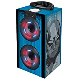 Vengadores, Marvel - Mini Torre Sonido Portátil con Altavoces Luminosos, Bluetooth, Puertos USB/SD / MP3, batería Recargable (BT600AV)