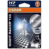 OSRAM NIGHT RACER 110 H7 Halogen, Motorrad-Scheinwerferlampe, 64210NR1-01B, Einzelblister (1 Stück)