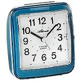 Atlanta 1772/5 Wecker Quarz analog blau leise ohne Ticken mit Licht Snooze