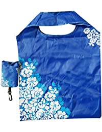 Flower Print Portable Travel Shoulder Bag Foldable Shopping Bag Eco Friendly Reusable Tote Pouch Recycle Storage...