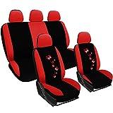 WOLTU AS7250 Auto Sitzbezüge für PKW ohne Seitenairbag, mit Butterfly, rot