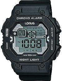 Lorus Gents Digital Black Silicone Strap Watch