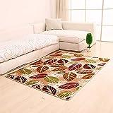 J.Scarpet Nordic Modern Home Teppich Dicke Seide Einfache Kreative Couchtisch Sofa/Schlafzimmer Bett/Wohnzimmer/Bad/Büro/Studie Rechteckige 3D-Bedruckte Teppich Matte,2,80 * 120Cm