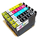 5x Epson Workforce WF 2510 WF kompatible XL Druckerpatronen - 2xSchwarz-1xCyan-1xMagenta-1xGelb - Patrone MIT CHIP !!!