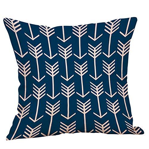 ShunHoo Geometry Pattern Cushion Cover,Linen Cotton Pillow Covers Sofa 45x45cm Cushion Cover -