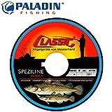 Paladin Classic Speziline Dorsch Makrele gelb 300m 0,35mm 9,3kg - Angelschnur zum Meeresangeln, Schnur zum Pilkangeln Dorschschnur