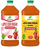 #5: HerbalGreens Organic, Pure, Unpasteurized, Undiluted, Unfiltered Apple Cider Vinegar (ACV) and Apple Cider Vinegar with Honey for weight loss/Mother Vinegar Apple Cider, Combo Pack 500 ml + 500 ml