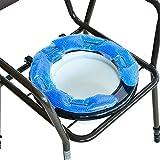NRS Healthcare Coussin confort gel pour chaise percée/WC