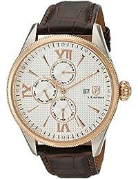 S. Coifman SC0170 - Reloj de cuarzo para hombres, color negro