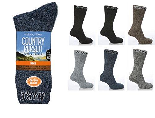 6 Paar Country Pursuit Fachbodenregal BIGFOOT Hike Jean Walking-Socken, Größe 45-47, Gr. 46-48