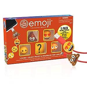 Emoji EM-KB-1024 K-Bling-5 Pack Protector de Cable Coleccionable, Multi