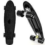 Busyall Mini Cruiser Skateboard complet 55,9cm Retro Classics Plastique Skate board pour adolescents enfants 4ans jusqu'à, Type 5