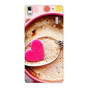 Stylish Pink Love Coffee Multicolor Back Case Cover for Lenovo K3 Note