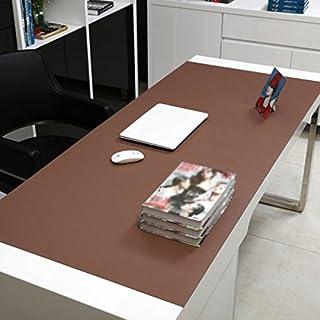 Küche Tischdecke Rechteckige Tischdecke, Bürotisch Matten Computer Tisch Mats Schreiben Tisch Mats Mauspad Übergroße Matratze Dicker Mehrfarbige Esstisch Tischdecke ( Farbe : Brown 2.8mm , größe : 90*50cm )