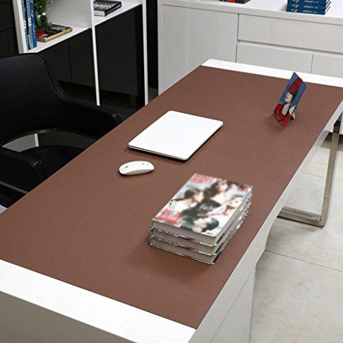 Küche Tischdecke Rechteckige Tischdecke, Bürotisch Matten Computer Tisch Mats Schreiben Tisch Mats Mauspad Übergroße Matratze Dicker Mehrfarbige Esstisch Tischdecke ( Farbe : Brown 2.8mm , größe : 90*50cm ) (Stickerei-overlay)