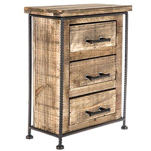3-schubladen-breite Brust (Rustikal Holz Schrank mit Schubladen Schmuck Schrank Schmuck Box Organizer aus Holz Schmuck Aufbewahrung Kleiderschrank DREI Schubladen)