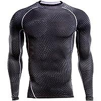 laamei Homme T-Shirts de Compression à Manches Longues Sport Vêtements Slim  Respirant de Vélo 6fc0abc8ef6
