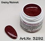 Online de sombrero 5ml UV Exclusiv farbgel grainy Edition Vino Rojo