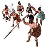 YIJIAOYUN 6 Piezas Gran Figura de Acción Juguete de Gladiador Romano...