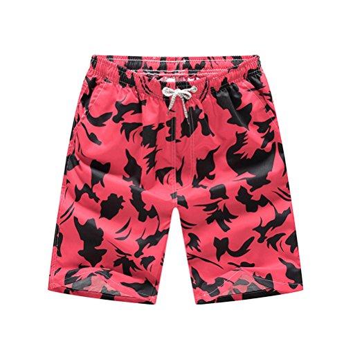 TTD Men's Printing Quick Dry Beach Board Shorts Swim Trunks Plus Size