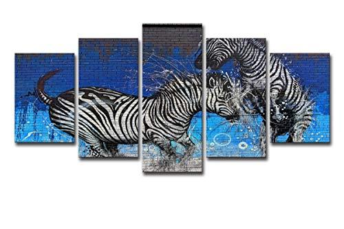HDWALLART Impresiones De Lienzos Grandes Grabado En Hd De Graffiti Stena Pintura Sobre Lienzo Decoración De La Habitación Cartel De Impresión Lienzo Con Enmarcado,XXL:76x152 cm(30' x 60')Incluyendo el