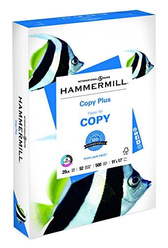 Copy Plus Copy Paper, 92 Brightness, 20lb, 11 x 17, White, 500 Sheets/Ream