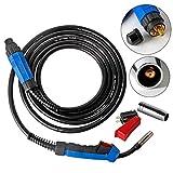 Topwill Schweißbrenner MB15 Schlauchpaket Schutzgas CO2 Welding Torch Gun Hals für MIG/MAG Schweißgerät (5m)