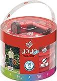 Fitt 650301Schlauch ausziehbar Yoyo GB 15m + Zubehör, rot, 1x 2x 3cm