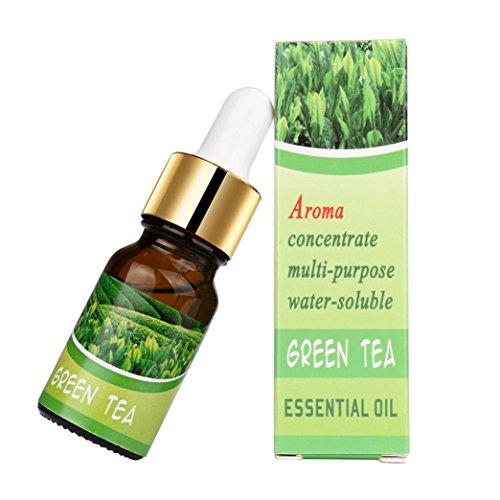Ätherische Öle Set,style_dress 10 ML 100% Anjou Aromatherapie Duftöl reine & natürliche ätherische Öle Aromatherapie Duft Hautpflege D (Grüner Tee-B) (Grüner-tee-massage-lotion)