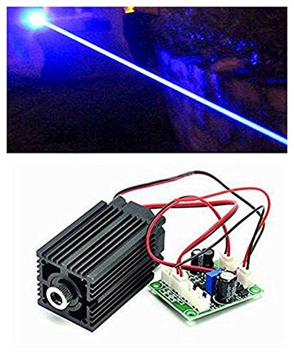 12V Industrie / Labor Laser 450nm 1000mW 1W blaues Diodenlaser-Punkt-Modul mit TTL & Adapter & Langzeitarbeit