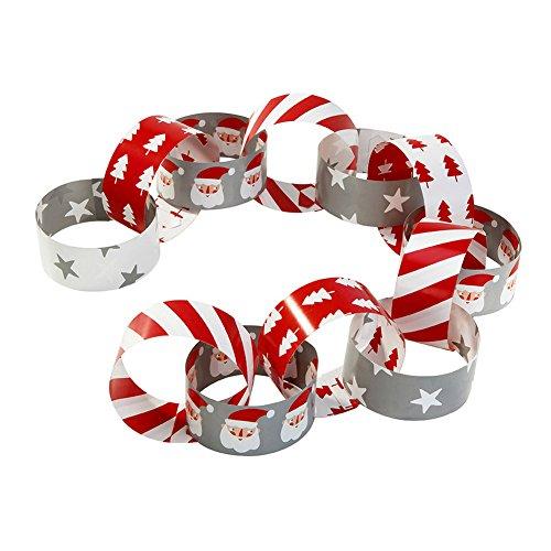 Eigenen Weihnachtsbaum Santas (Talking Tables Waiting For Santa; Papierketten für Weihnachten und festliche Partys, Bunt (100 pro Pack))