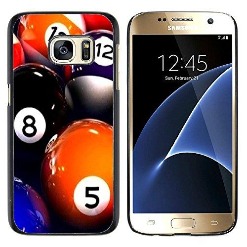 Graphic4You Billard Billardspiel Kugel '8 Ball' Harte Dünn Hülle Tasche Schale Schutzhülle für Samsung Galaxy S7