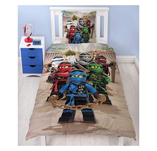 Lego Ninjago Kinder Bettwäsche FLANELL / BIBER 2 tlg. 80x80 + 135x200 cm 100 % Baumwolle - deutsche Standard Größe - Biber Jungen Kostüm