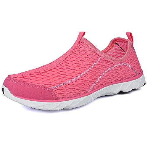 51MLZLEf%2BHL UK BEST BUY #1QANSI Womens Ladies Trainers Breathable Mesh Slip On Water Shoes (8 UK, Pink) price Reviews uk